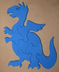 Wooden Baby Dragon Puzzle by JasonYoungdale