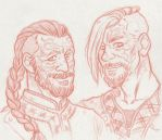 Harald Finehair and Halfdan the Black by ProfDrLachfinger