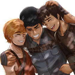 Newt, Minho and Thomas by allarica