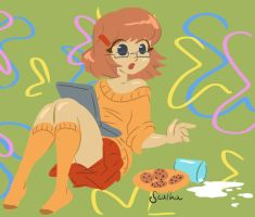 Velma and milk by Seatha