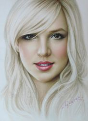 Portrait Britney Spears by Drawing-Portraits