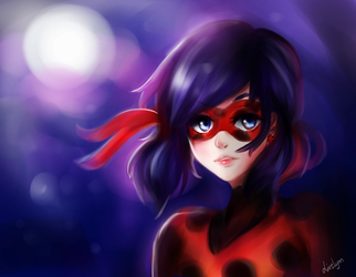 Ladybug in the night by Livelynn