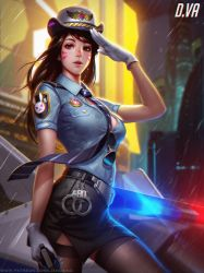 Officer D.va by Liang-Xing