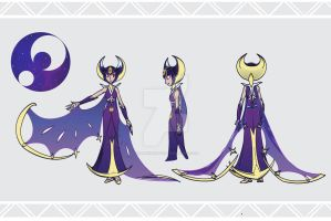 Gijinka Lunala by GillanDesign