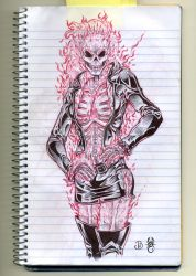 Female Ghost Rider by IndustrialScorpion
