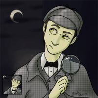 Sherlock Data Icon Commission by PulsiferDraws