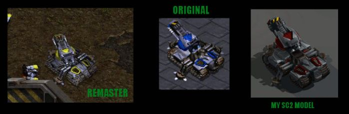 Quick fix of the StarCraft Remastered Siege Tank by xiaorobear