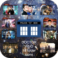 Doctor Who folder icons by LeaBeaudoin
