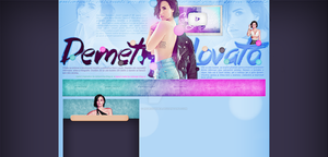 Ordered layout with Demi Lovato by redesignbea
