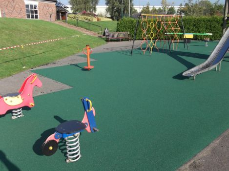 Play area surfacing maintenance by PlaygroundMarkings