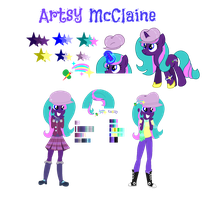 Pony and EqG Artsy McClaine Full Reference by YayCelestia0331