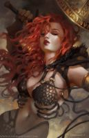 Red Sonja, Seeing Red by SunKhamunaki