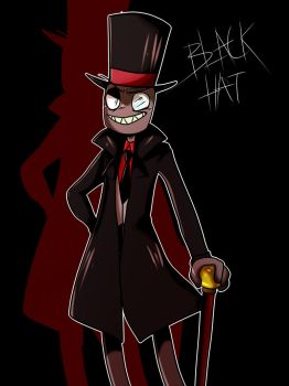 Black Hat With Shadow by burningblazecat