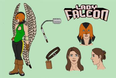 Lady Falcon Sheet by Dewy6