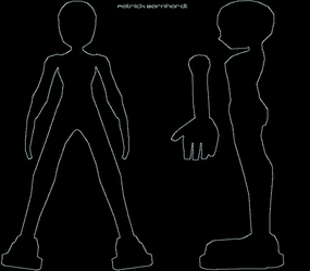 Male Model Reference sheet by CrimsonStrife