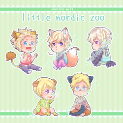 [APH] little zoo by sketchy-milk