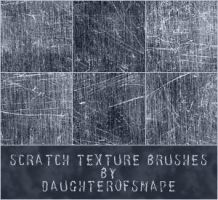 Scratch Texture Brushes by daughterofsnape