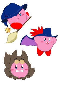 Kirby Halloween 2017 Set 2 by Seraphinae