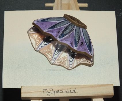 Quilled Shell ATC by MySpecialist