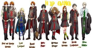 Harry Potter Gang by fastpitchsoftball101