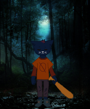Mae in the woods by Bubbizen