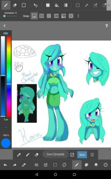 Another New Character~ Lisa The Turtle by Coffee-Karin