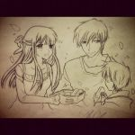 Tohru, Kyo, and son by thelittlenerdmaid