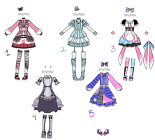 8usd /800 points Open 2/5 Outfit Batch 21 Alice by tinyhito