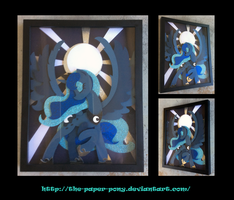 Stained Glass Luna Shadowbox by The-Paper-Pony