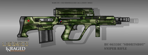 Fictional Firearm: HC-SG338c Sniper Rifle by CzechBiohazard