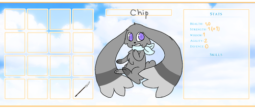 Chip Equipment and Stat Sheet (Sky Explorers) by Danceykitty