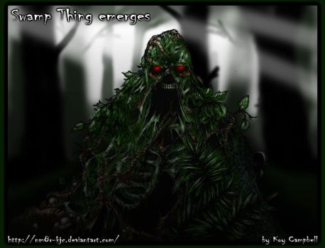Swamp Thing emerges by Koy Campbell-2 by NM8R-KJC