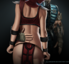 Commission: Skarlet and Sub Zero [Edit] by SlimeGear