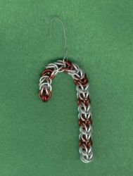 Chain maille Candy Cane by hwkwlf