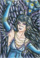 Angel of the Raven (ACEO) by Keyshe54