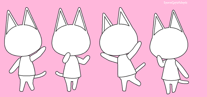 F2U Animal Crossing Cat Bases by SpaceGaysAdopts