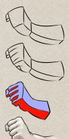 How to draw closed hand - step by step tutorial by PitGraf