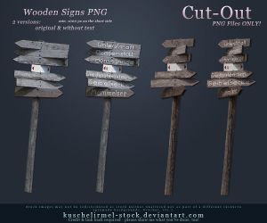 Wooden Signs Cut-Out PNG by kuschelirmel-stock