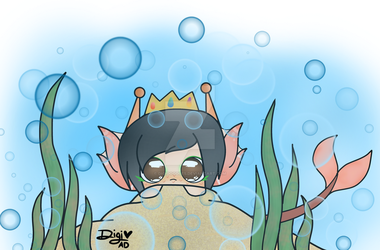 Flawless Kevin as a sea creature  by DigiDoodles