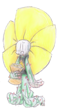 If I made this into an AU Flowey you'd all die by Sylvia-Da-Serval