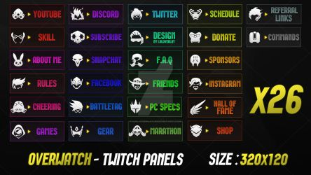Overwatch - Twitch Panels by lol0verlay