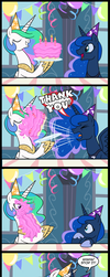 Princess Luna's Birthday (Commissioned) by tan575