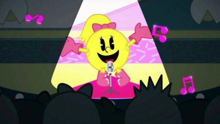 Pac-Marie is singing. X3 by Ilovesonicandfriend