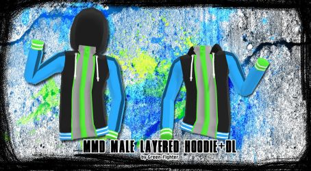 MMD Male Layered Hoodie v2 +DL by Fina-Nz