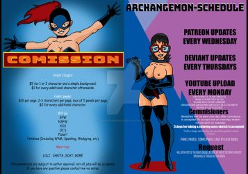 Comission Prices Plus Schedule by archangemon