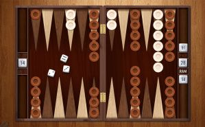 Backgammon Board Clock 2 (animated) for xwidget by Jimking