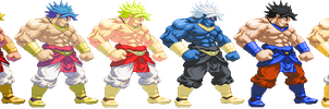 SF3-styled Legendairy Broly sprite pack by Balthazar321
