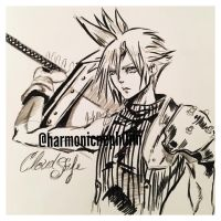 Cloud Strife by kirstenmarquisart