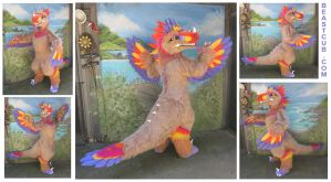 Feathered Fantasy Raptor by LilleahWest