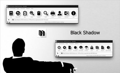 Black Shadow WinRAR theme by alexgal23